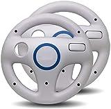 Link-e - Lote de 2 volantes compatibles con mando Wiimote sobre consola Nintendo Wii / Wii-U (blanco)