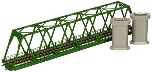 TOMIX Nゲージ 単線トラス鉄橋 F 深緑 PC橋脚 2本付 3033 鉄道模型用品