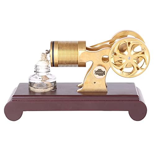 Topbau Motor Stirling, todos los motores de vacío de latón, soplado de fuego, motor de motor de Sterling Engine, juguete educativo para experimentos de física, versión de un cilindro