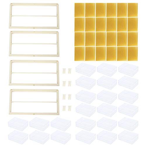 cloudbox Caja de Colmena Caja de Colmena de Miel Miel - Peine de Apicultura de plástico Kit de Marco de Caja de Colmena Equipo de Apicultor