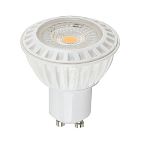 V-TAC GU10 6 W LED Plastique Premium Spotlight, Blanc 110