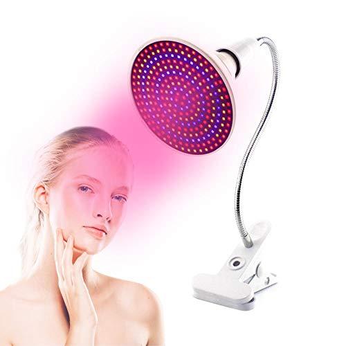 LED Licht Heizungs Therapie Standplatz Lampen, LED Hautverjüngung Licht Professionelle Therapie Akne Faltenbehandlung Gesicht Körperpflege(Einzellampenhalter + Halterungssatz)
