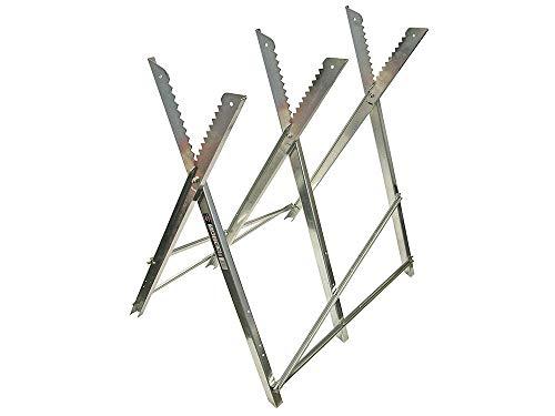 Faithfull FAISAWHORSE Folding Galvanised Metal Saw Horse 150 kg Capacity