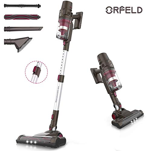 ORFELD Cordless Vacuum, 22000pa Stick Vacuum 5 in 1, Smart Sensor Tech, 7-Cell Lithium-ion Batteries, Up to 60 Minutes Runtime, with Dual Japanese Motor for Deep Clean Whole House