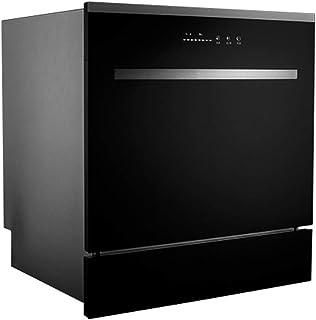 DWLXSH Construido en lavavajillas, Limpieza rápida y secar los Platos, vajilla, Ahorro de energía, 4 programas de Cocina, lavavajillas Integrado, Acero Inoxidable 8-Lugares Compacto Lavavajillas