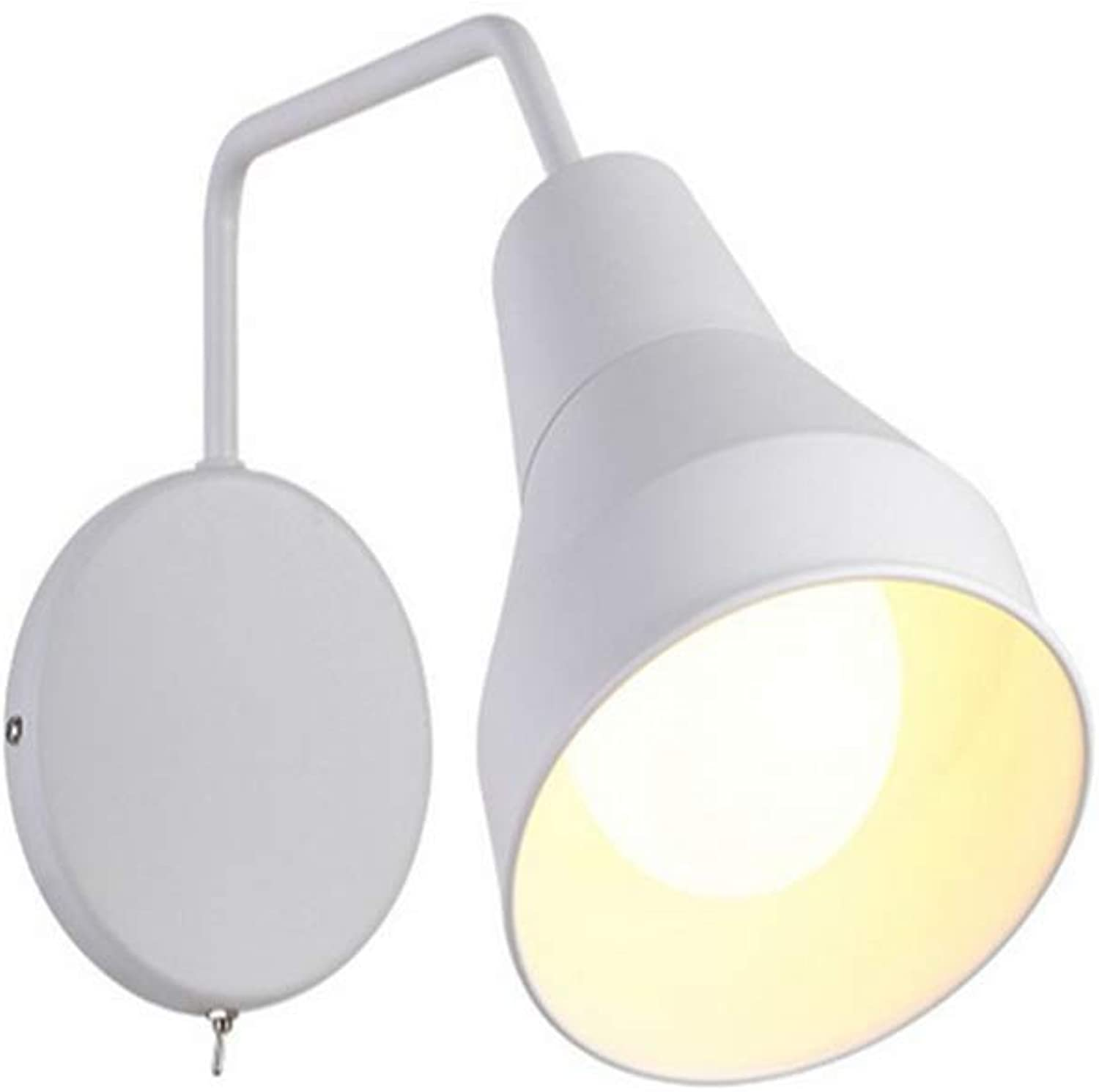 Lichtwall Sconce Wall Lights Nordic Wall Lamp Modern Simple Creative Bedroom Bedside Balcony Aisle Rotate The Wall Lights With Switch Small Wall Lights [Energy Class A++]