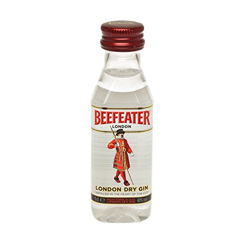 Pack 12 botellitas ginebra BEEFEATER 50ml miniatures
