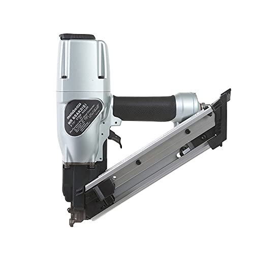 Metabo HPT 2-1/2-Inch Strap-Tite Fastening System Strip Nailer, Short Magazine, Pneumatic, Accepts 1-1/2' and 2-1/2' Nails, Metal Connector   NR65AK2(S)