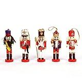 Renoble (1Pcs Color Aleatorio) Muñeca de Madera Cascanueces Adorno Set Cascanueces de Madera Decoraciones Colgantes para Figuras de árboles de Navidad Juguete de Marionetas Mejor Regalo