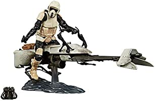 Star Wars - The Black Series - Mandalorian - Speeder Bike and Scout with The Child - Baby Yoda - Grogu - Collectible...