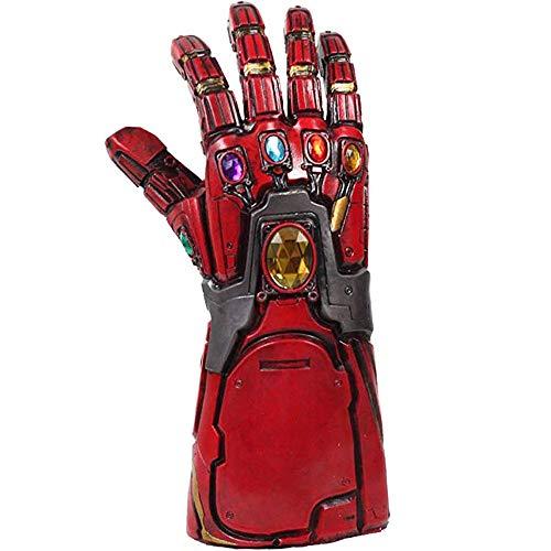 Nexthops Guantes Iron Man Gauntlet Thanos Gloves Infinity LED Látex para Disfraz Cosplay Avanzado-Design con Llavero-Gratis Los Vengadores The Avengers Endgame Costume Accesorio Unisex (Rojo)