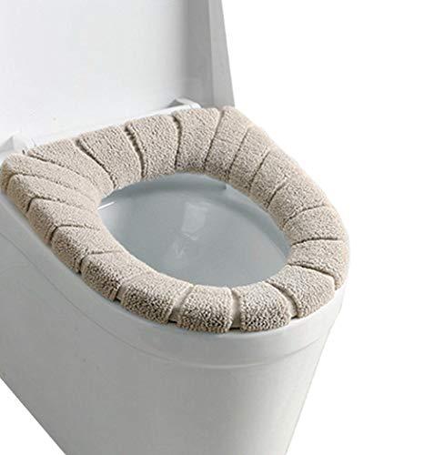 4 Stück WC Sitz Beheizt WC-Sitzwärmer Toilettensitz Abdeckung,Toilettensitzabdeckung Waschbar Toiletten Sitzbezug/weich/dicker/waschbar/dehnbar