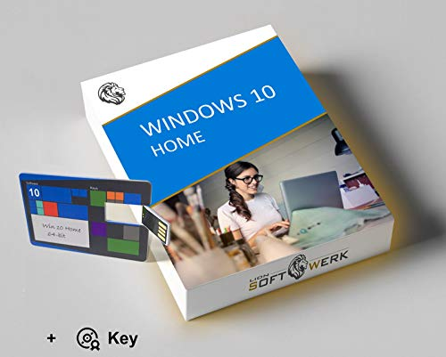 Windows 10 Home Vollversion | Aktivierungspaket | 64-bit Installations-USB-stick + Original Produktschlüssel | EU-Konform