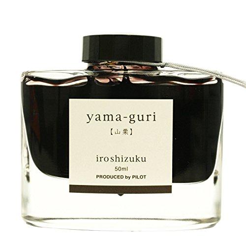 Pilot Iroshizuku Fountain Pen Ink - 50 ml Bottle - Yama-guri Wild Chestnut (Dark Brown) (japan import)
