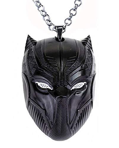 Inception Pro Infinite Collana - Pantera Nera - Supereroi - Film - Black Panter - Maschera - Simbolo - Colore - Medaglione - Grande - Qualita - Travestimento - Carnevale - Halloween - Cosplay