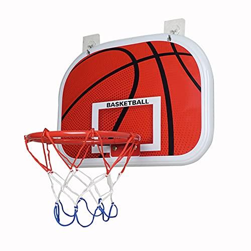 Canasta para Baloncesto Hoop De Baloncesto Mini Montado En La Pared para Niños, Tablero De Baloncesto Perforado Portátil, Aro De Baloncesto Interior Y Al Aire Libre (Size : 34x25cm)