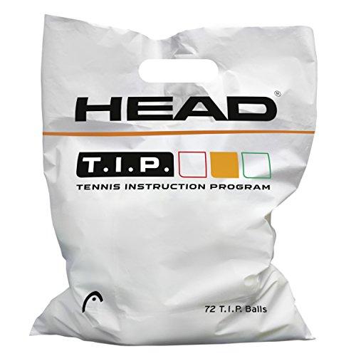HEAD T.I.P. Orange-72 Balls Tennisball, Gelb, Einheitsgröße