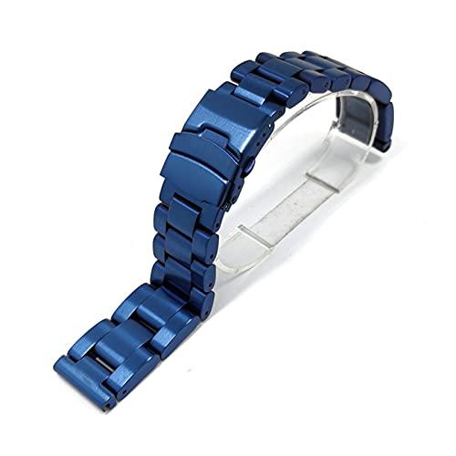 YANYAN MAYALI 22 mm 24 mm 26 mm de Espesamiento de 5,5 mm Hombre de Acero Inoxidable Hombre de Reloj General Marca Reloj Correa Reloj de Reloj Brazalet Black Silver Tools