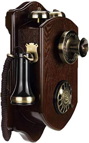 Línea fija retro Teléfono rotatorio retro de pared y timbre de metal, botones retroiluminado Teléfono, teléfono de gama alta creativo, marcación giratoria Teléfono decorativo ( Size : Rotarydialing )