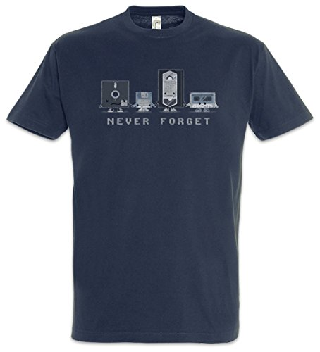Urban Backwoods Never Forget Herren T-Shirt Blau Größe L