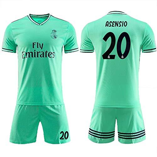 Fußballtrikot Set Nr. 4 Ramos Kroos Benzema Modric Bale, Marcelo, Asensio, Kurzarmshorts, großartige Materialien und schnell trocknende Sportbekleidung für Kinder/Männer/Kinder-#20-L