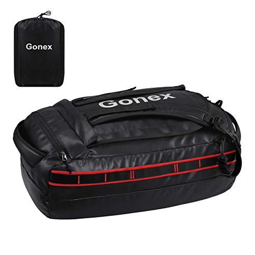 Gonex 60L Waterproof Duffle Holdall Bag Backpack Convertible Packable Travel Bag Duffel Bag for Hiking Camping Travelling Cycling for Men Women