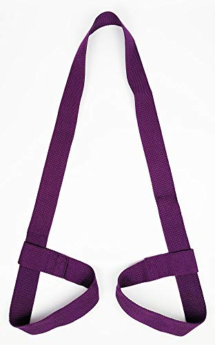 Riarbronee Yoga Mat Carrying Strap Sling,Adjustable Loops for all Mat Sizes(Mat not included) (Purple)