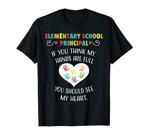Elementary School Principal Appreciation Gift Heart T-shirt T-Shirt