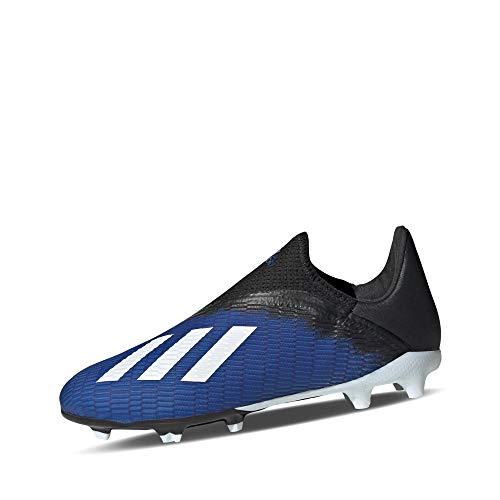 Adidas X 19.3 LL FG J, Zapatillas Deportivas Fútbol Unisex Infantil, Azul (Team Royal Blue/FTWR White/Core Black), 30.5 EU
