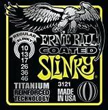 Ernie ball eB - 3121 regular coated slinky 010–046 de cordes pour guitare électrique avec revêtement titanium