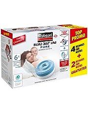 Rubson AÉRO 360° TAB Pure, 6 recharges tabs neutres anti-humidité & anti-odeurs pour déshumidificateur Rubson, purificateur d'air pour lutter contre les allergies, 450 g