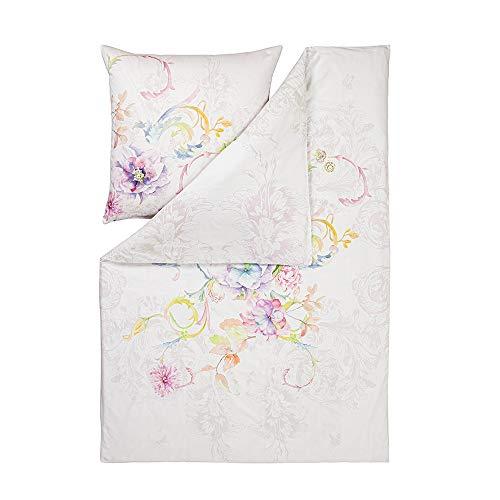 ESTELLA Bettwäsche Violetta | Multicolor | 135x200 + 80x80 cm | Mako-Satin mit seidigem Glanz | trocknerfest | atmungsaktiv und anschmiegsam | 100% Baumwolle