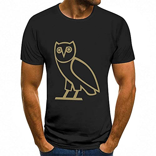Herren T-Shirts OVO -(1) Herren Freizeitsport Kurzarm T-Shirt 3D gedruckte individuelle Muster
