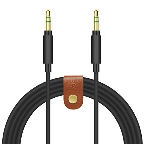 Geekria QuickFit Replacement Audio Cable for Beats Solo3, Solo2, Solo HD, Executive, Studio3, Studio2, Soul SL150BW, SL300WB, X-TRA Headphone - 3.5mm to 3.5mm Stereo Headphones Cord (Black, 5.6 FT)