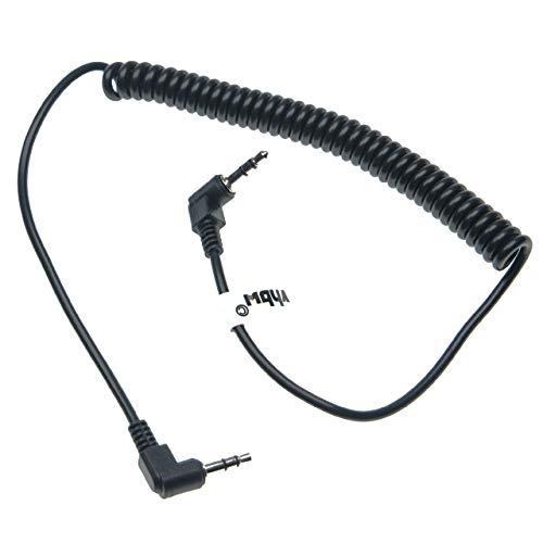 vhbw cavo di collegamento compatibile con Canon EOS 400D, 450D, 500D, 550D, 600D, 60D, 650D, 700D, 70D fotocamera digitale, reflex - 140cm, a spirale