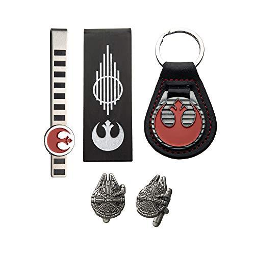 Star Wars Rebel Porte-clés avec pince à cravate, pince à billets et boutons de manchette