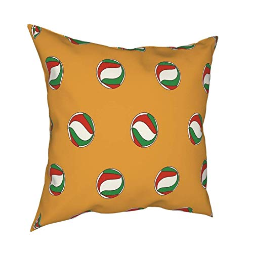 Haikyuu y Haiykyuu !! Fly Karasuno High Haikyuu Equipo de Voleibol Funda de Almohada Funda de Almohada Cuadrada de Moda Decoración Throw Pillow Cover 45 X 45 cm