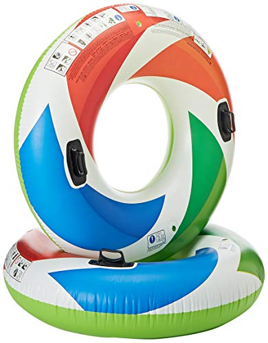Intex Inflatable Color Whirl Floating Tube Raft w/Handles (Set of 2) 48in 58202EP