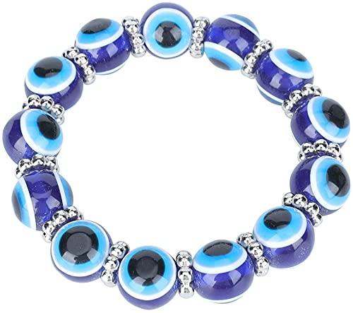 Chyang Blue Equal Ojo, Turkish Glass Bead Equal Equal Pulsera para Las niñas Mujeres Buena Suerte Bendición Cumpleaños