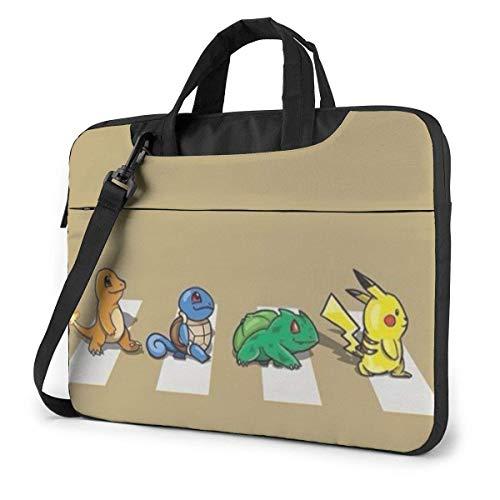 Pokemon Pikachu Laptop Shoulder Bag,Shockproof Slim Computer Carry Case 13'/14'/15.6'