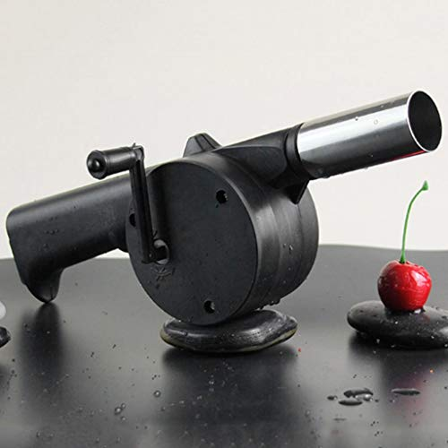 Ogquaton práctico manivela mini ventilador ventilador ventilador para barbacoa picnic al aire libre herramienta de cocina durable y práctico