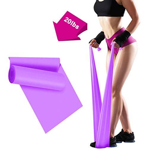 ERUW Bandas Elasticas Fitness, 2M Banda Elastica Resistencia Musculacion para Hombre, Mujer, Ejercicios de Musculares, Glúteos y Yoga Entrenamiento Bandas en Casa y Gym Pilates, Estiramiento (Purple)