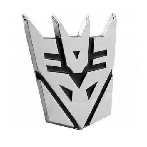 Transformer Decepticon Auto Emblem - [Chrome][2 1/2'' Tall]