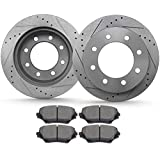 Brakes and Rotors, ECCPP Rear Brake Pads Rotors Kits fit for 2000-2005 for Ford...