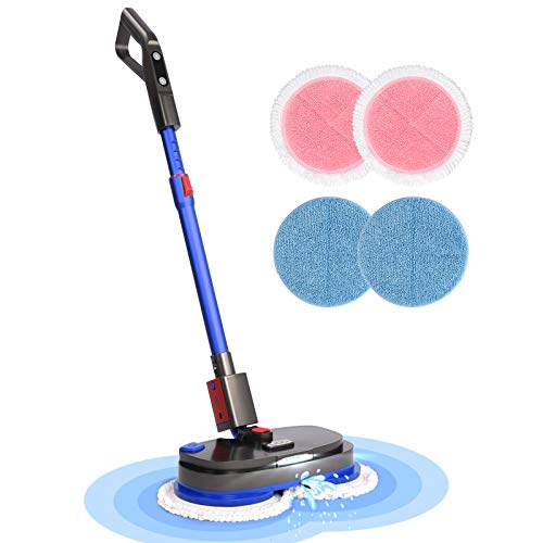 Cordless Electric Spin Mop, Spray Mops for Floor Cleaning with Built-in 300ml Water Tank, Polisher...