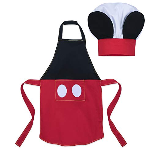 Disney Mickey Mouse Apron and Chef's Hat Set for Kids - Red