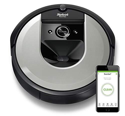 iRobot Roomba i7 (i7156) Saugroboter, 3-stufiges Reinigungssystem, intelligente Raumerfassung, Zeitplanreinigung, 2 Multibodenbürsten, WLAN App Staubsauger Roboter, für Tierhaare, Waschbarer Behälter