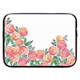 Waterproof Laptop Sleeve 13 Inch, Pink Peach Print Business Briefcase Protective Bag, Computer Case Cover for Ultrabook, MacBook Pro, MacBook Air, Asus, Samsung, Sony, Notebook