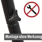 Hängestuhlgestell 210cm | Hängesessel-Stand Ständer aus Stahl in Schwarz | Belastbarkeit max. 150KG | Perfekt für XXL Mehrpersonen-Hängestühle Hängesessel Hängesitz | Freistehendes Metallgestell | Innen- und Außenbereich - 6