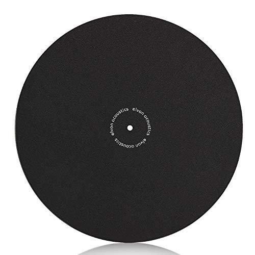 Facmogu Turntable Slipmat Anti-Static Wool Mat - 12 inches Phonograph LP Vinyl Record Player Black Mat - Improves Sound & Reduces Noise